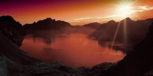 HD Lake and Mountains Sunset