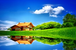 House by the Lake HD Wallpaper