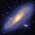 Andromeda galaxy in Space Wallpaper