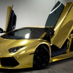 HD Gold Lamborghini