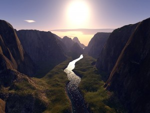 Beautiful 3D HD Wallpaper Valley