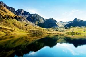 Swiss Alps and Lake