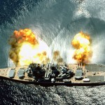 Battleship Guns Firing