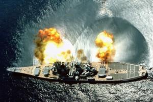 Battleship Guns Firing
