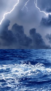 Smartphone Thunderstorm at Sea