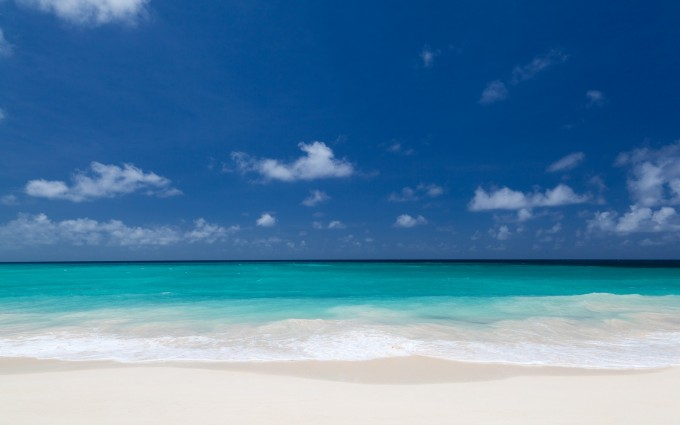 Tropical White Sandy Beach Wallpaper