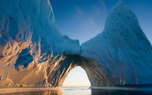 HD Ice Tunnel with Sunlight