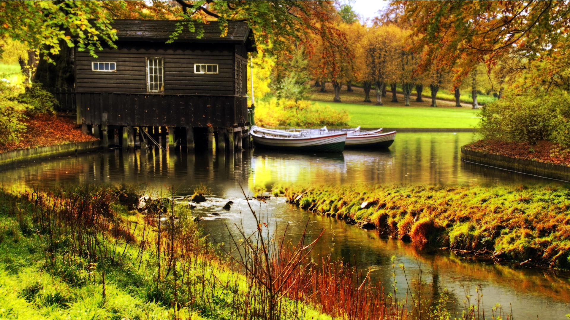 autumn cabin wallpaper desktop - photo #18