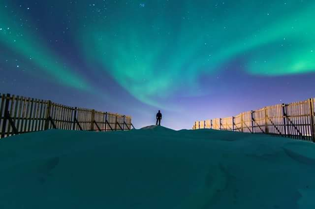 HD norther lights night sky