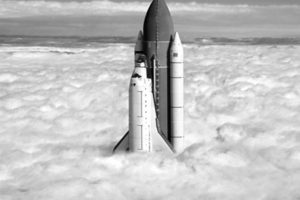 HD Space Shuttle Lifting Off