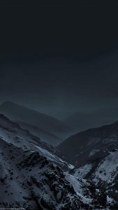HD-Mountains With A Night Sky