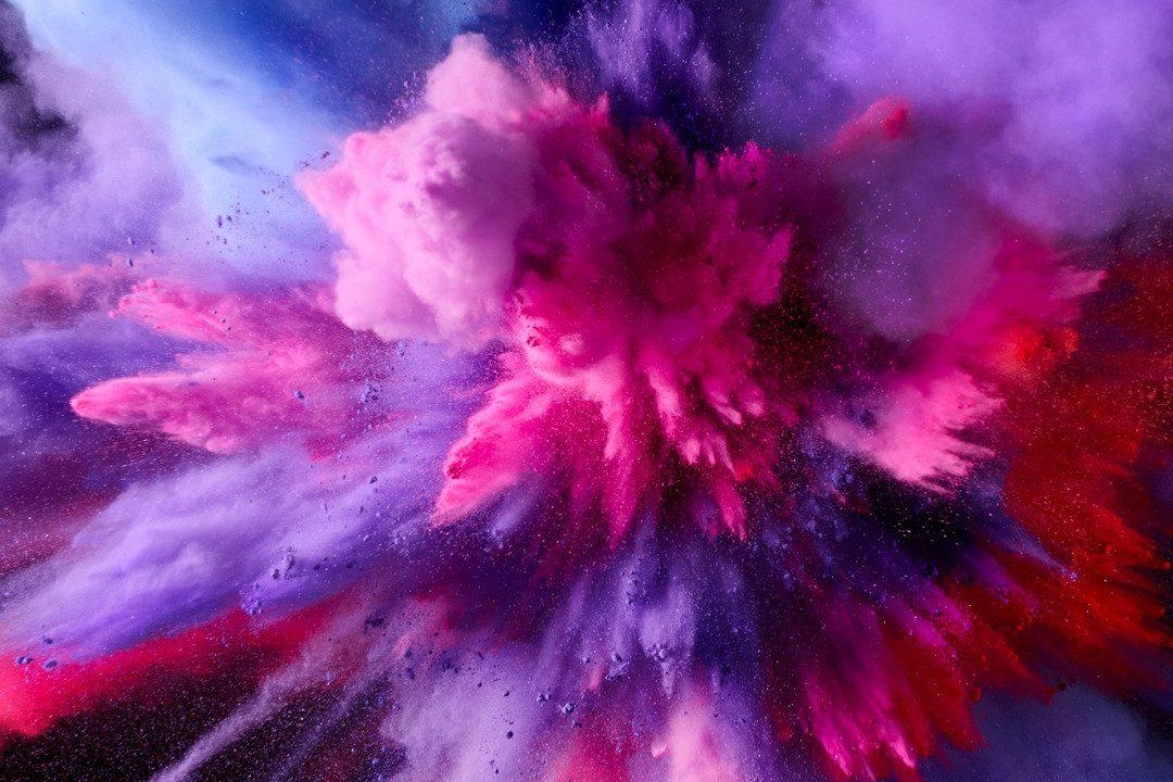 HD Purple and Pink Splash Colors | HD Wallpaper Download