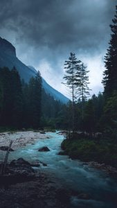 HD River Flowing Through The Mountains