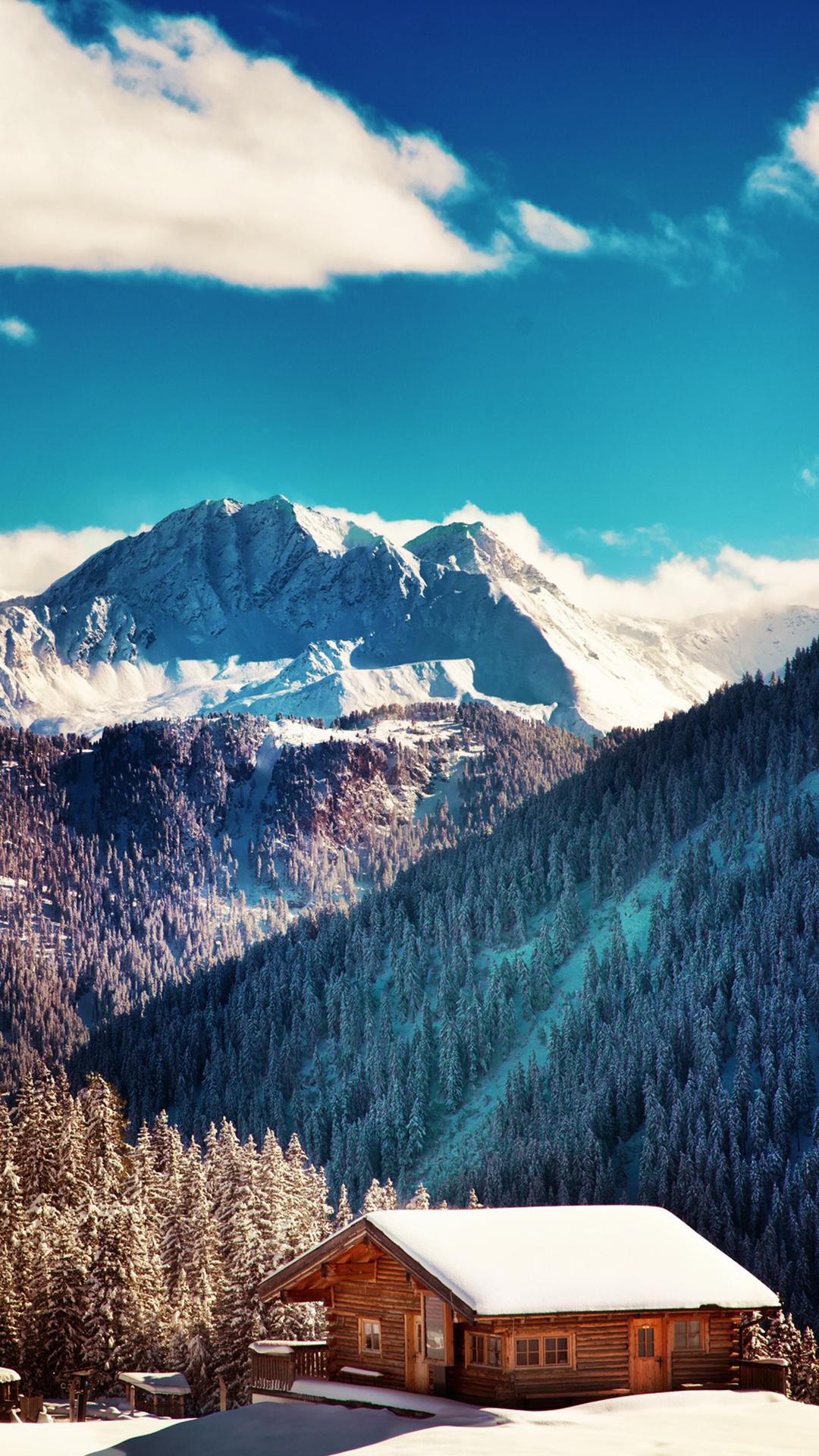 Best Wallpaper Mountain Blue - Mountains20Chalet20Blue20Sky20Android20Wallpaper  2018_11569.jpg