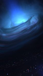 HD Blue Nebula Space Galaxy